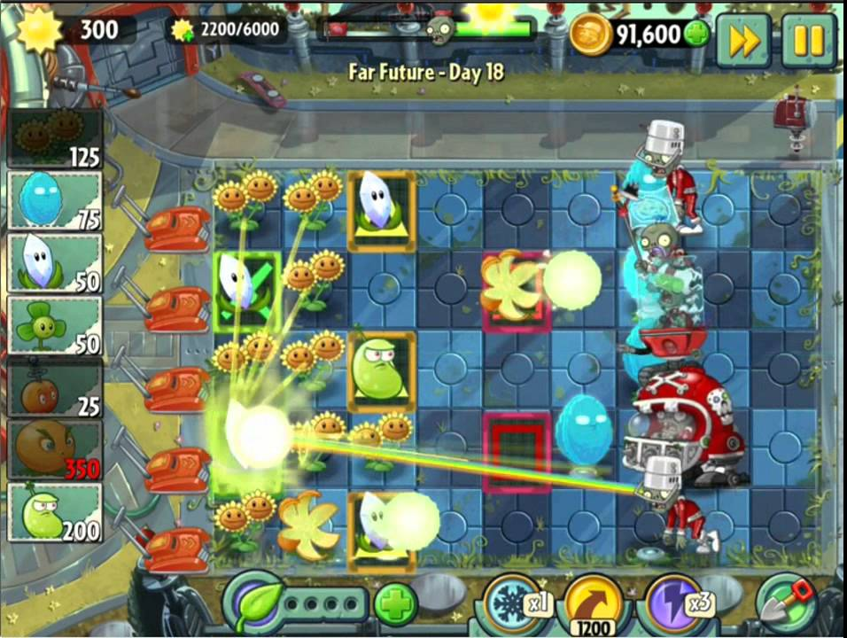 Plants Vs Zombies 2 Far Future Day 18 Magnifying Grass