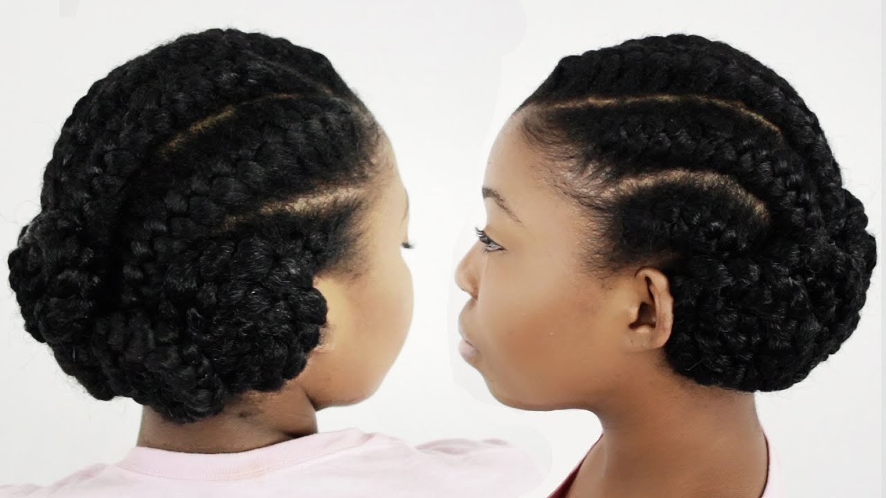 Braided Updo Styles For Natural Hair: Goddess Braids Full DVD Tutorial