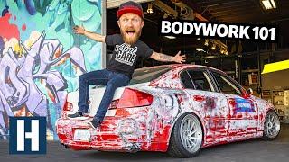 How YOU Can Fix Bodywork in Your Garage: Dan Uses Simple Tools to Fix the G35's Smashed Metal