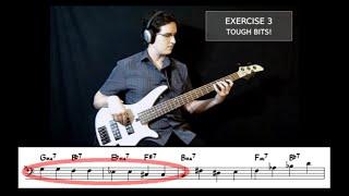 "Walking Jazz Standards #6: ""Giant Steps"" - Bass Guitar Lesson"