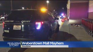 100 Teens Shut Down Part Of Stockton Mall