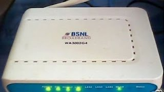 How to Configure BSNL Utstarcom Modem Model WA3002G4