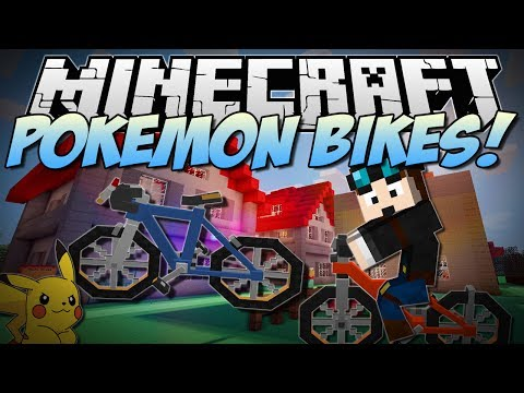 Minecraft POKEMON BIKES Beautiful Bicycles in Minecraft Mod Showcase 1.6.4