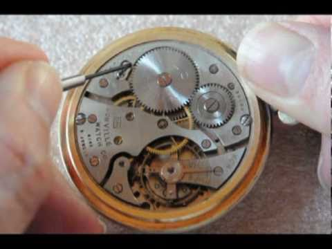 How to unwind a pocket watch mainspring