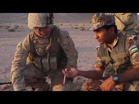 U.S. Marines and Jordanian army joint reconnaissance patrol