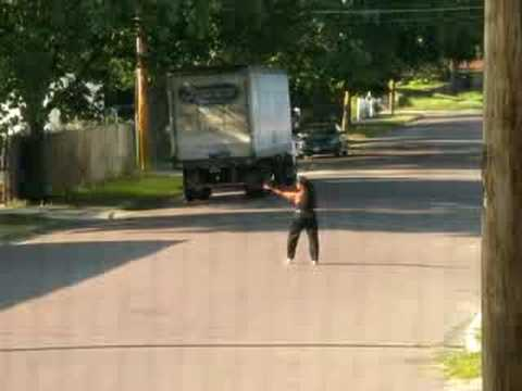 Crazy Lady Dances In The Street