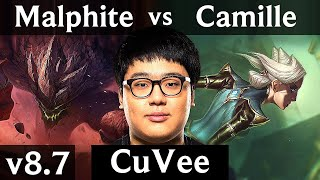 KSV CuVee - MALPHITE vs CAMILLE (TOP) /// Korea Challenger /// Patch 8.7