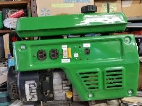 Coleman Powermate 1500 Generator repair with schematic