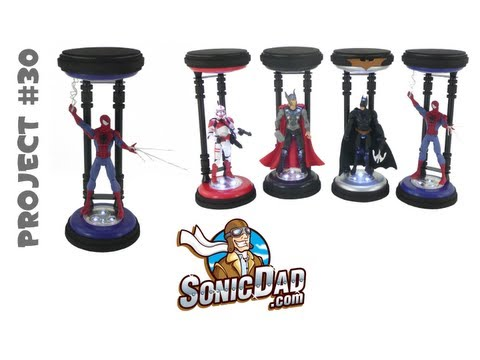 Action Figure Display Stand II - SonicDad Project #30