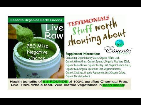 Live, Raw, Organic Greens - Alkalizing Testimonials From Essante Organics - Hangout video