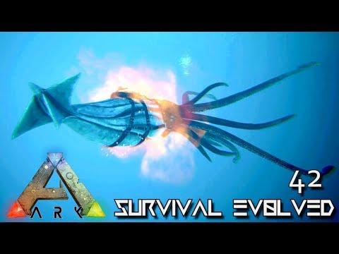 ARK: SURVIVAL EVOLVED - NEW ALPHA TUSOTEUTHIS GIANT SQUID TAME !!! E42 (MODDED ARK EXTINCTION CORE)