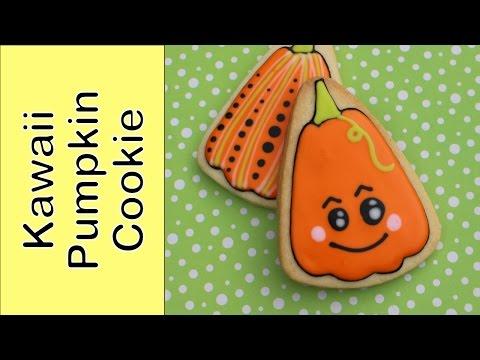 How to make a Halloween cookie - Kawaii pumpkin cookie