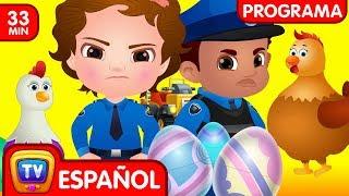 ChuChu TV Huevos Sorpresas de Policías – Episodio 09 - Las Súper Gallinas (Colección) | ChuChu TV