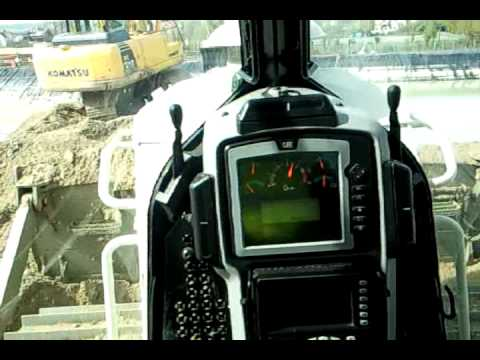 Cat d7e Pushing inside Cab