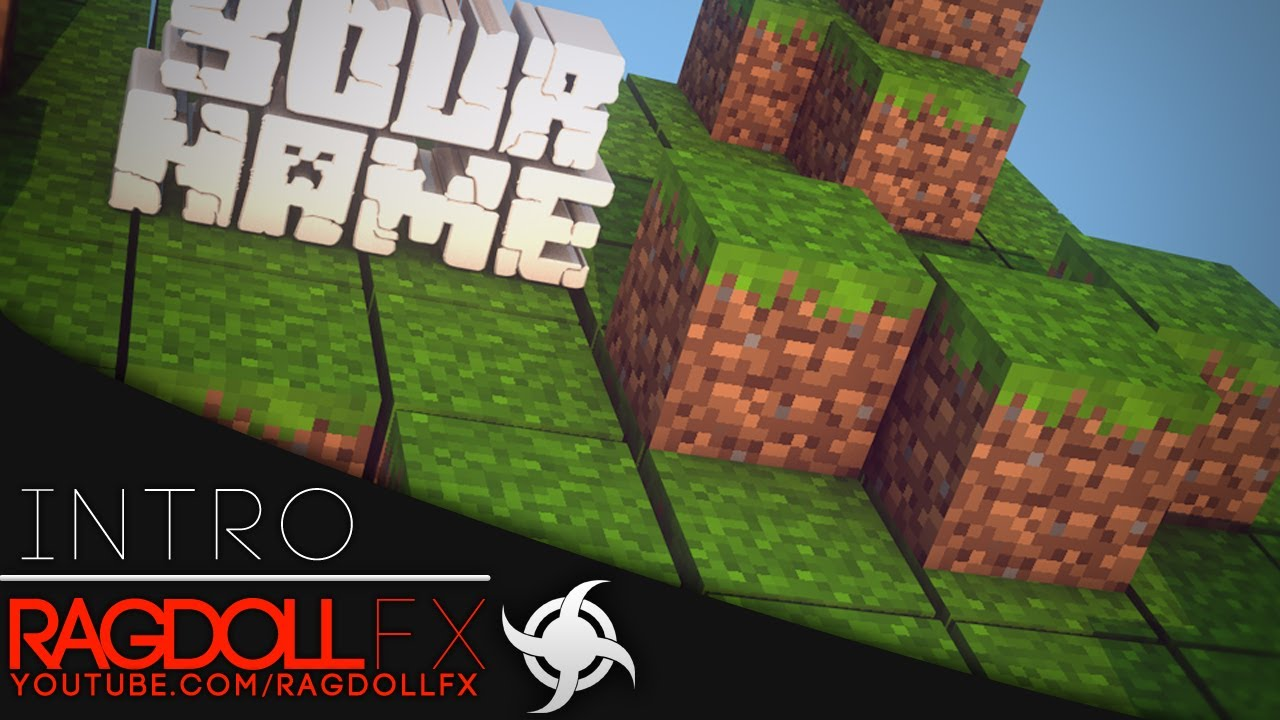 Cinema 4d After Effects Free Epic Minecraft Intro