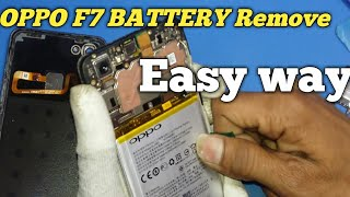 How to oppo F7 Battery & Back panel Remove