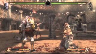 Mortal Kombat  Kratos vs Shao Kahn