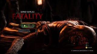 Mortal Kombat XL luta de ponta cabeça fiz o fatality ao contrario