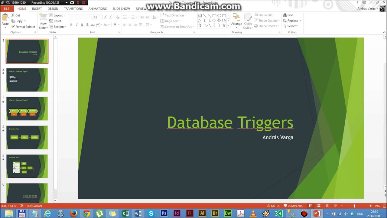 database triggers Mysql trigger is a named database object which is associated with a table, and it activates when a particular event (eg an insert, update or delete) occurs for the.