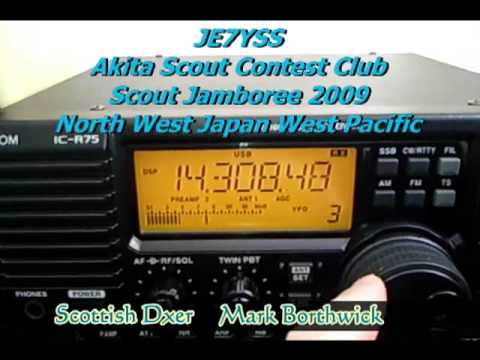 Ham Radio DX   Pacific Amateur Stations Received In Scotland with Icom R75 and Longwire KH0AC etc.