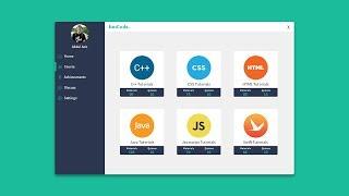 Designing Course Code Dashboard Modern Card UI Flat Design C# VB NET with Bunifu in Visual Studio