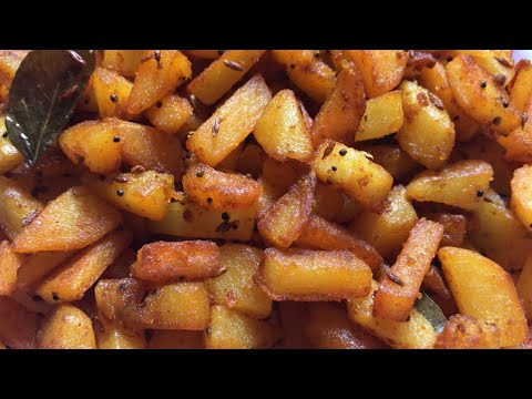Spicy Potato Fry Recipe | Aloo Fry Recipe Video| Urulai Kizhangu Varuval  | Fried Potato Recipe