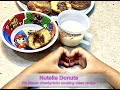 Nutella Donuts  Pie Maker Cheekyricho Cooking video recipe ep. 1,340