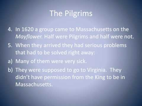 Massachusetts- The Pilgrims and the Puritans
