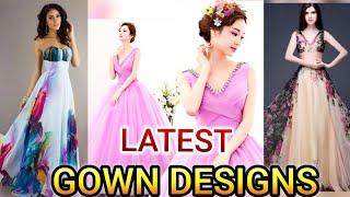 Simple party wear gown design idea/latest engagement  gown design