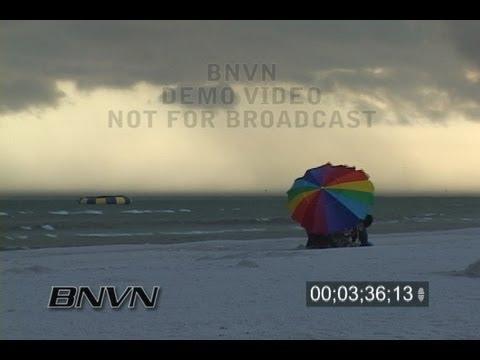 7/3/2006 Sarasota, FL Siesta Beach rain video b-roll
