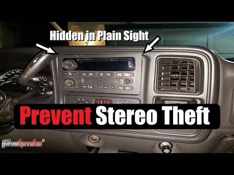 Hidden Stereo / Anti-Theft Device (Stealth Screen) faceplate