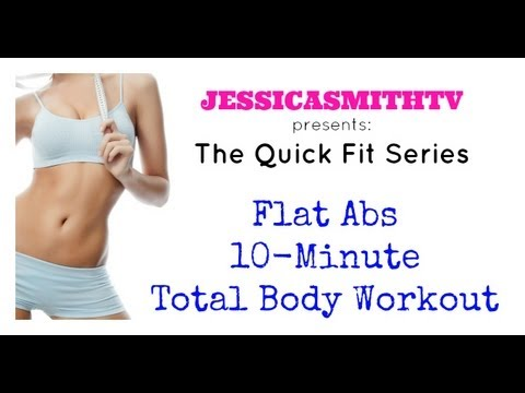 Lose Belly Fat, Flat Abs, Exercise  Full Length Flat Abs 10 Minute Total Body Workout