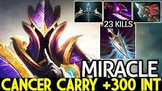 MIRACLE [Silencer] New Cancer Carry +300 INT Farming Heroes 7.24 Dota 2