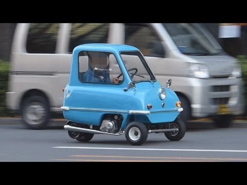 驚き世界最小の自動車。Surprising world s smallest car, PEEL P50.