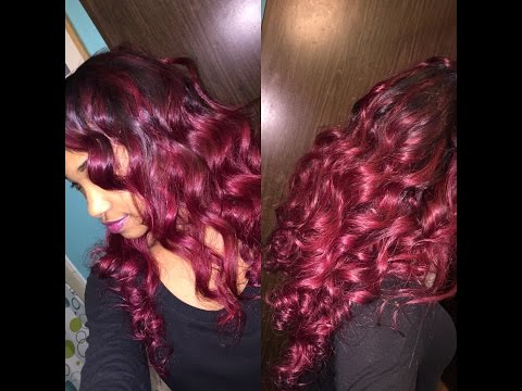 DIY Burgundy Ombre Wo Using BLEACH  How To Save Money And Do It Yourself