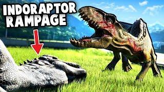 Indoraptor Escapes! Indoraptor vs Blue! - Jurassic World Evolution Fallen Kingdom DLC