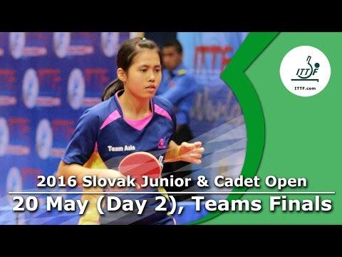 2016 ITTF Slovak Junior Open - Day 2 (Team Events: Finals)