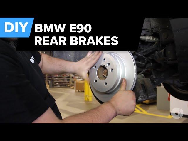 BMW E90 Rear Brake Replacement (328i Pads, Rotors, Sensors ...