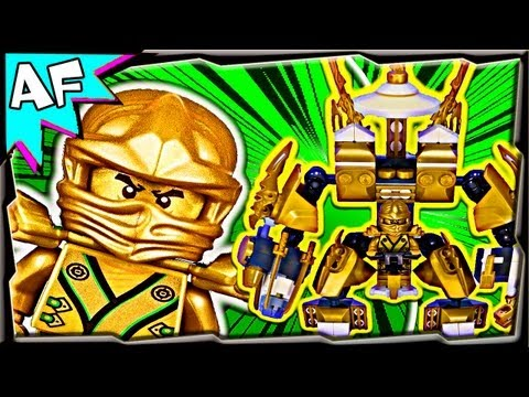 LLOYD's New GOLD MECH - Custom Lego Ninjago Rebooted 70505 Animated Review