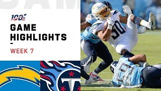 Chargers vs. Titans Week 7 Highlights | NFL 2019