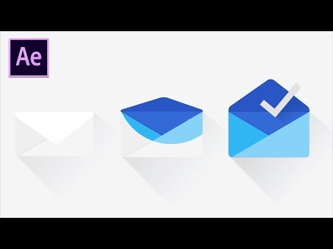 Google Inbox Gmail Icon Animation Tutorial - After Effects Tutorials