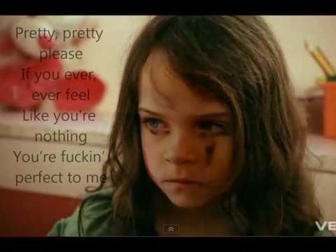 P!nk  Fuckin Perfect lyrics on screen