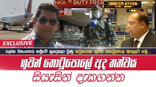 Katunayake airline flees in the face of global epidemic See the situation at the ferry today!