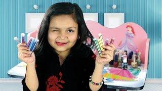 Kids Interesting Vlog | Meerab Pretend Nail Art for Kids Fun Tutorial