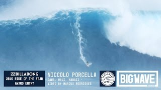 Niccolo Porcella at Jaws - 2016 Billabong Ride of the Year Entry - WSL Big Wave Awards