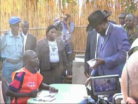 April 11, 2010 - Salva Kiir Votes in Juba, Sudan