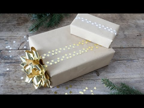 DIY : Gift-wrapping idea with glitter by Søstrene Grene
