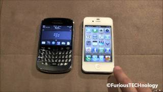 Blackberry Bold 9900 vs Apple iPhone 4s (HD)