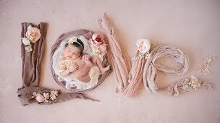 Beautiful Newborn Photoshoot with Adorable Baby Girl