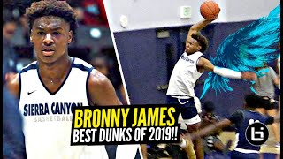 Bronny James Best Dunks of 2019!! Bronny's BOUNCE Got RIDICULOUS For An 8th/9th Grader!!